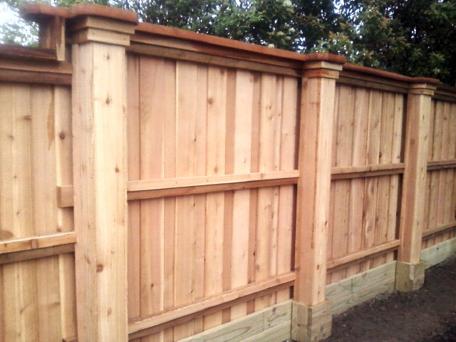 Cedar Panel Fence Installation | Nicholson Landscaping - Coquitlam